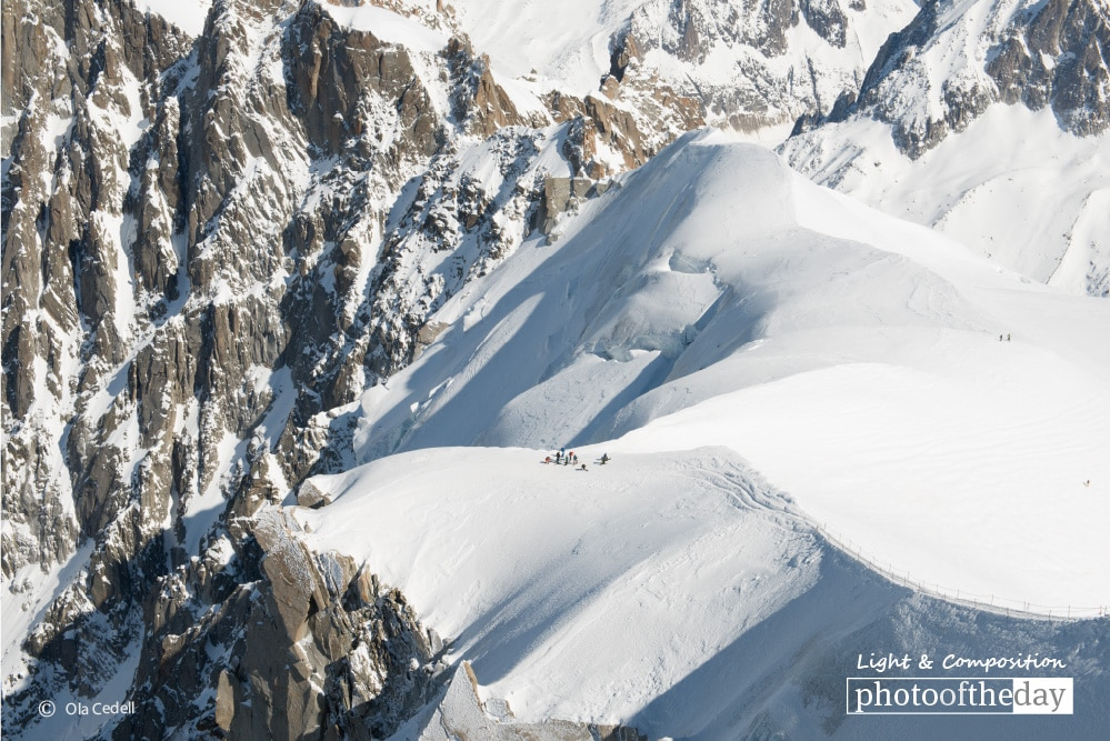 Start of the Vallee Blanche, by Ola Cedell