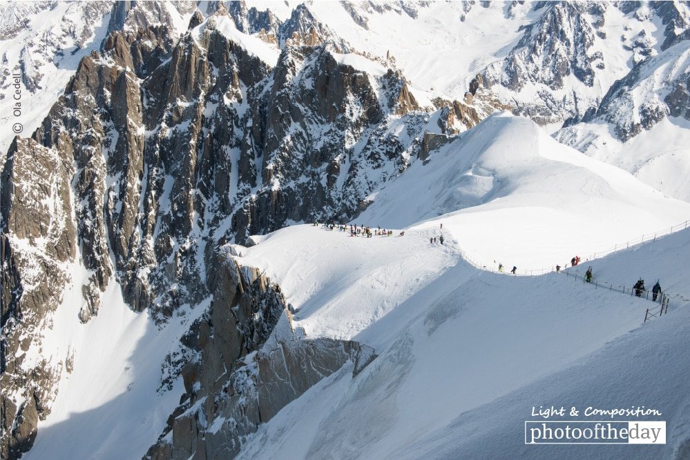 Vallee Blanche Ridge Walk, by Ola Cedell