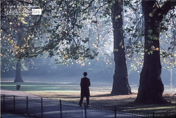 Caretaker Hyde Park, London, in 1985, by Gerardo Simonetti