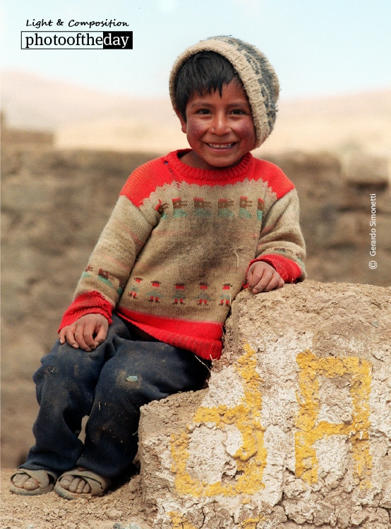A Roadside Boy in Peru, by Gerardo Simonetti