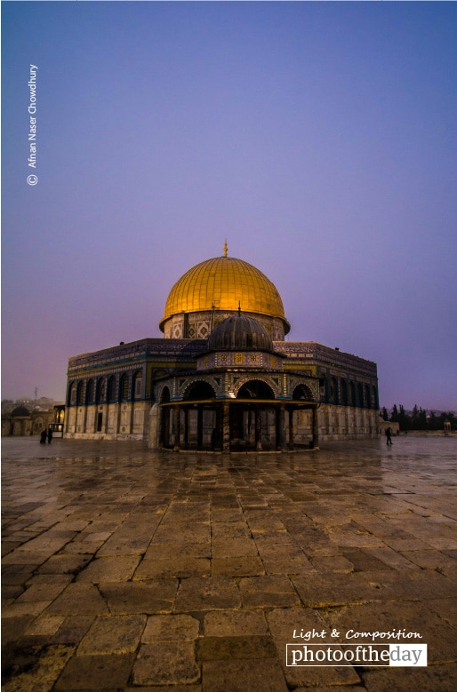The Dome of Rock After Fajr, by Afnan Naser Chowdhury