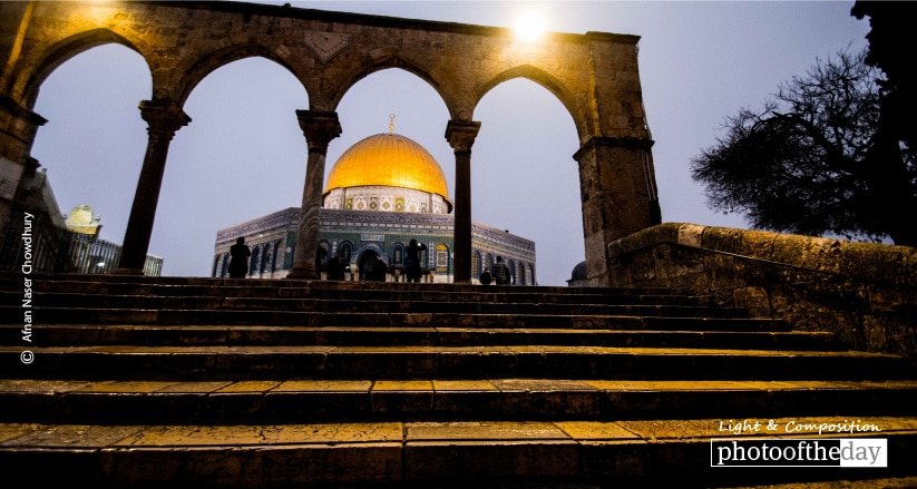 A Glimpse of the Dome of Rock, by Afnan Naser Chowdhury