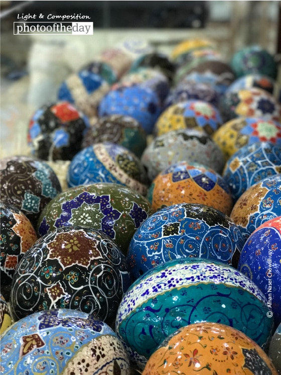 Hand Painted Ostrich Eggs, by Afnan Naser Chowdhury