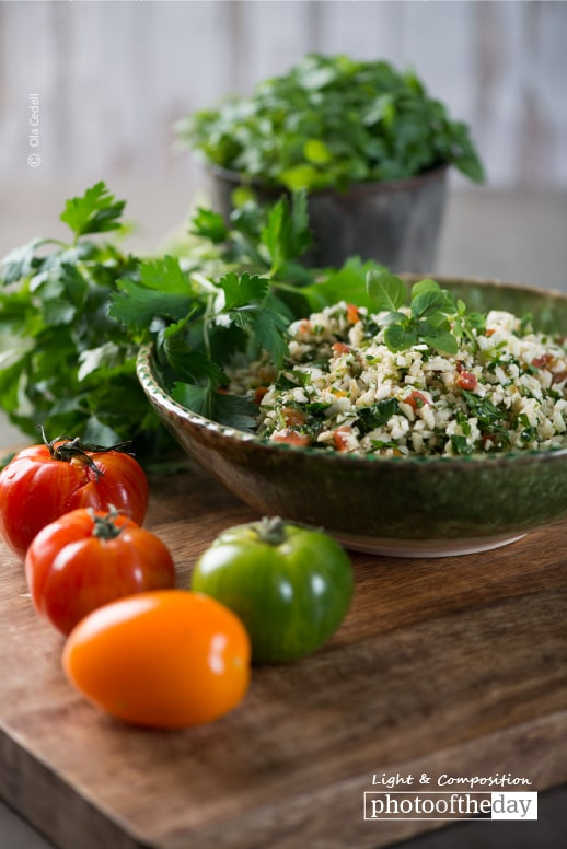 Cauliflower Tabbouleh, by Ola Cedell