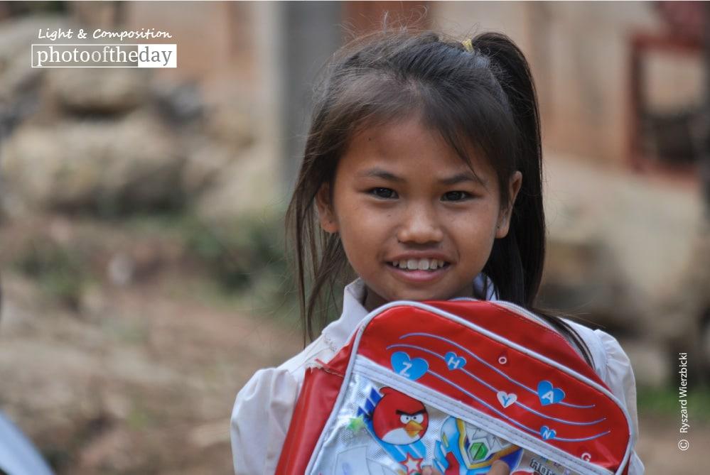 School Bag Smile, by Ryszard Wierzbicki
