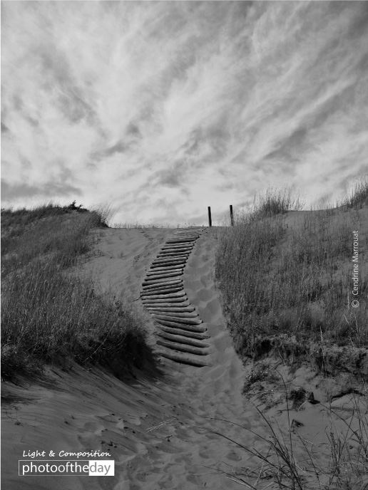 Climbing the Sand Dune, by Cendrine Marrouat