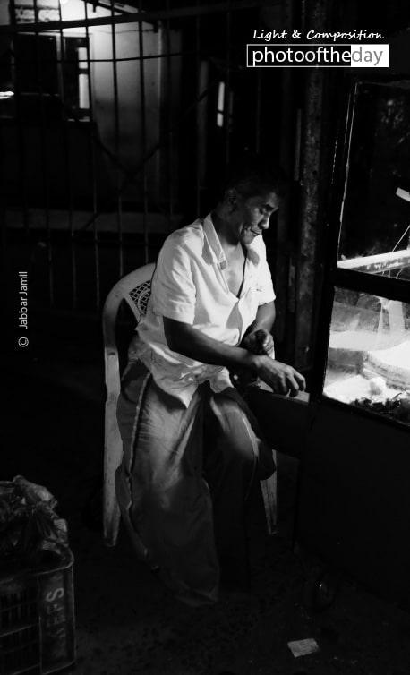 Working at Night, by Jabbar Jamil