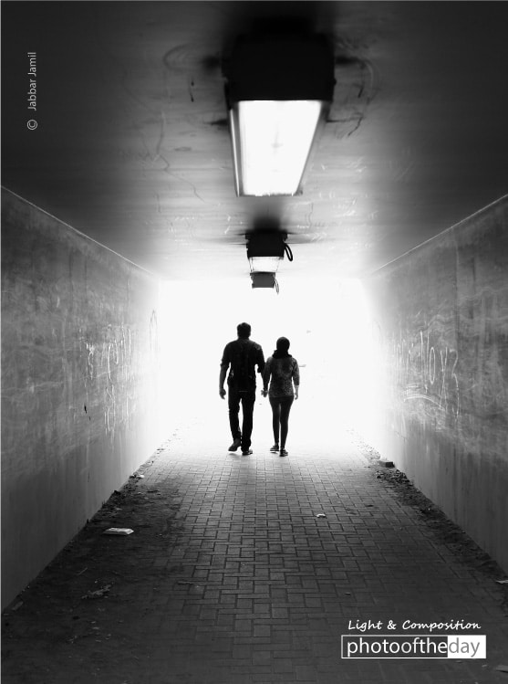 Walking through the Tunnel, by Jabbar Jamil