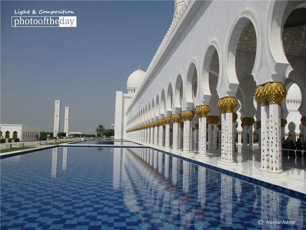 Cool Water of Sheikh Zayed Mosque, by Masrur Ashraf