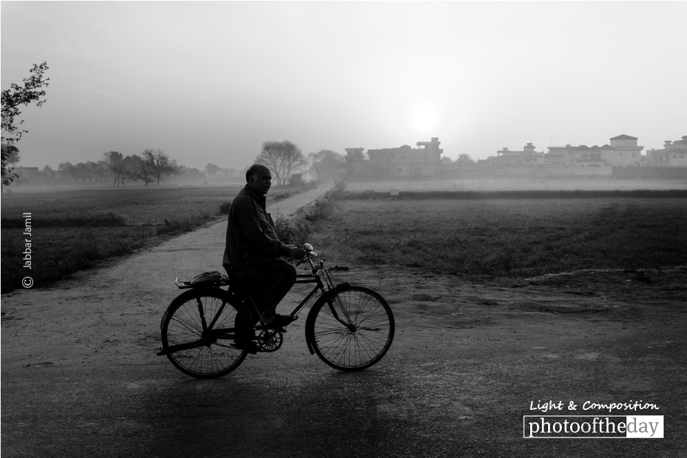 A Cyclist, by Jabbar Jamil