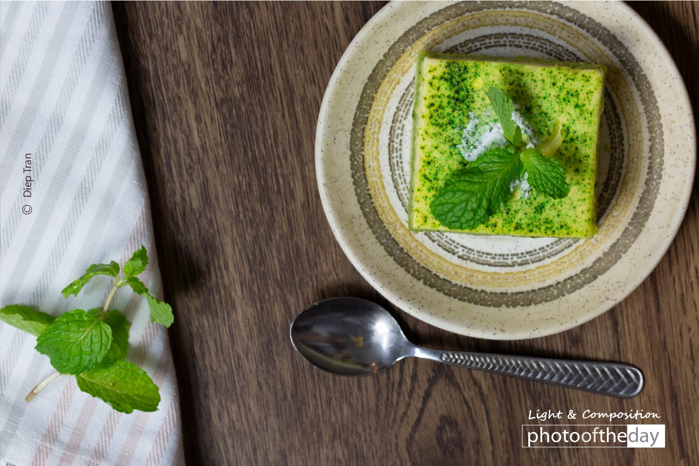 Green Tea Cheesecake by Diep Tran