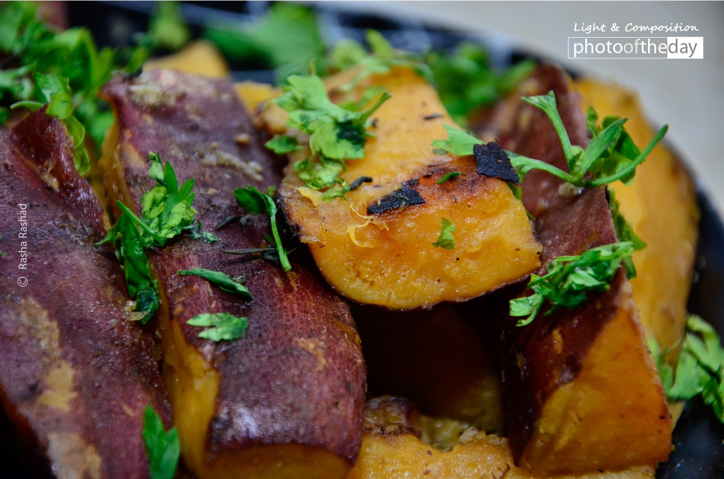 Sweet Potatoes with Parsley, by Rasha Rashad