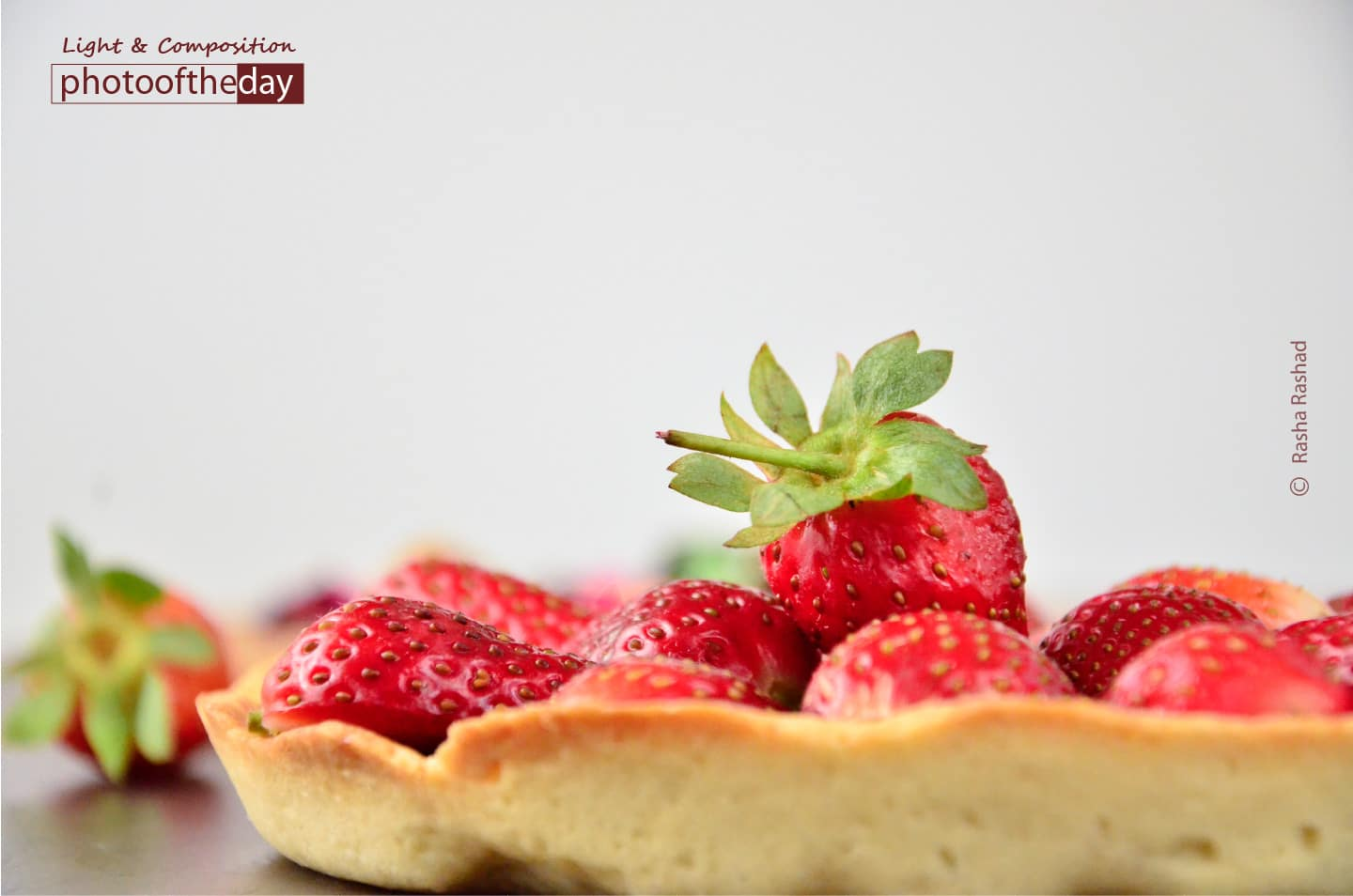 A Home Made Strawberry Tartlet, by Rasha Rashad