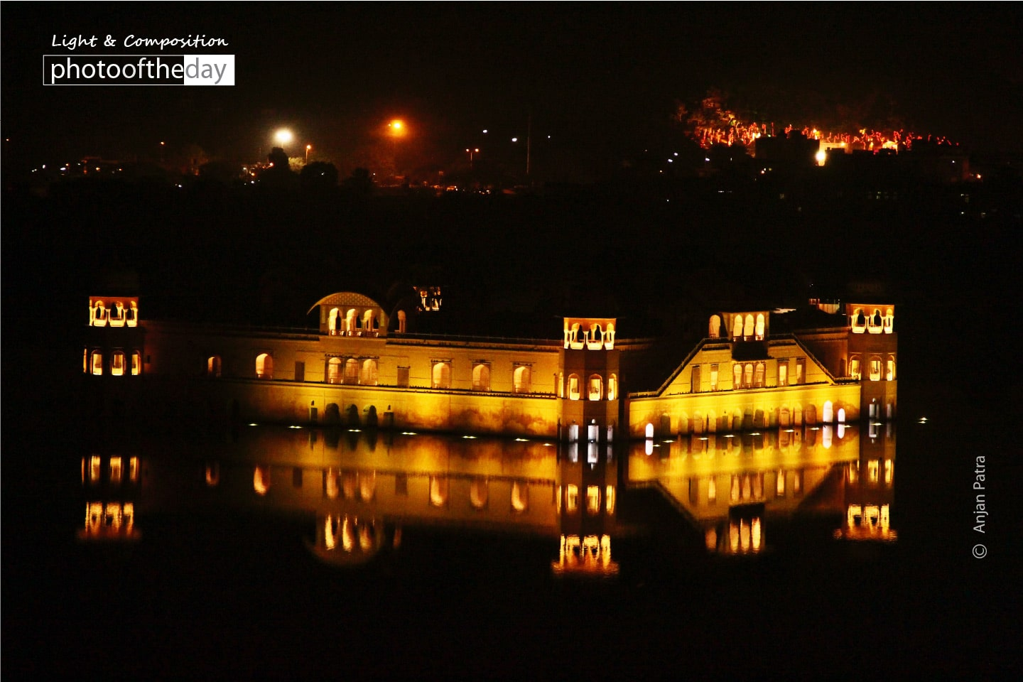 A Night View of Water Palace, by Anjan Patra