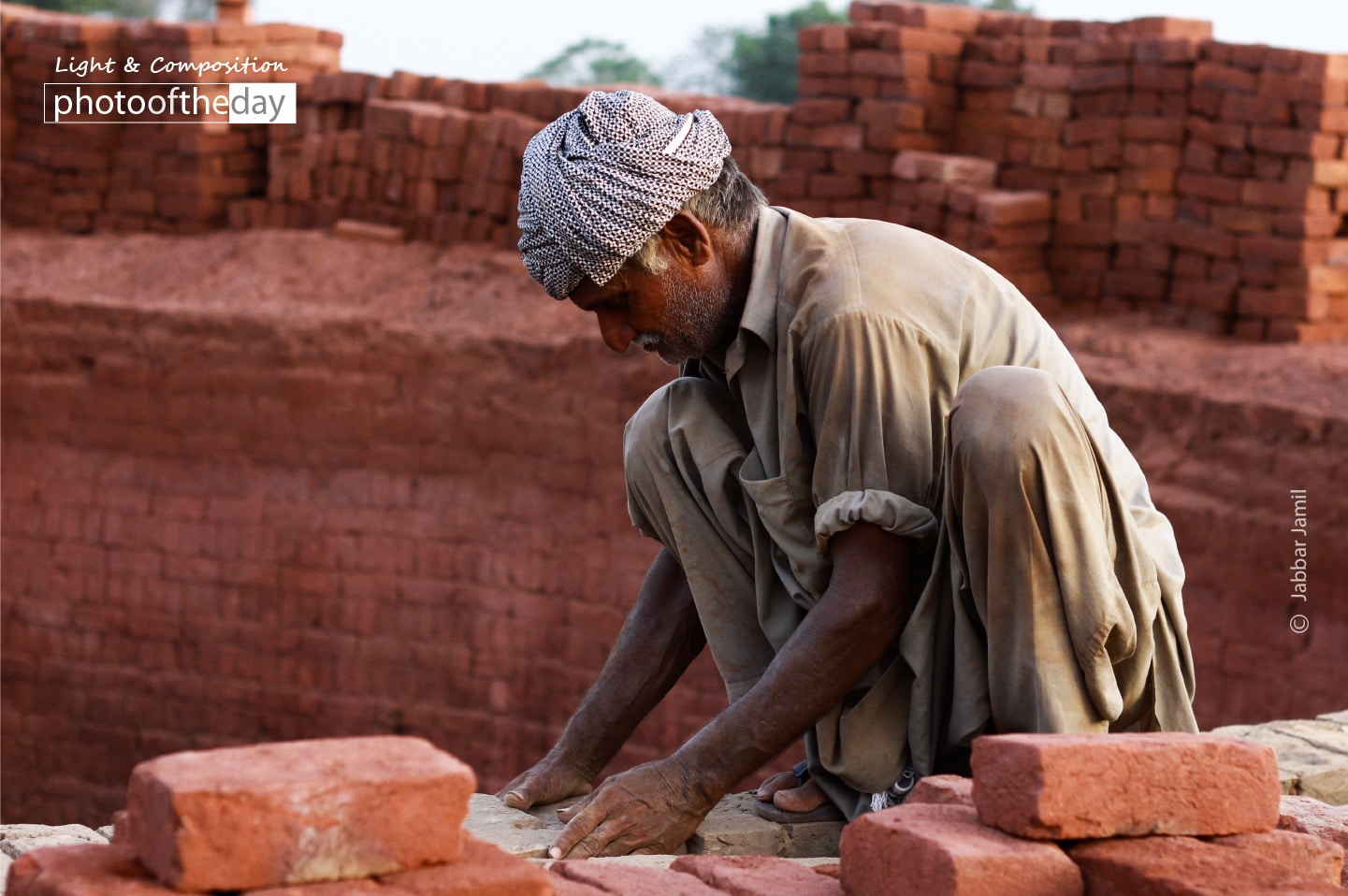 A Worker at Brick Kiln, by Jabbar Jamil