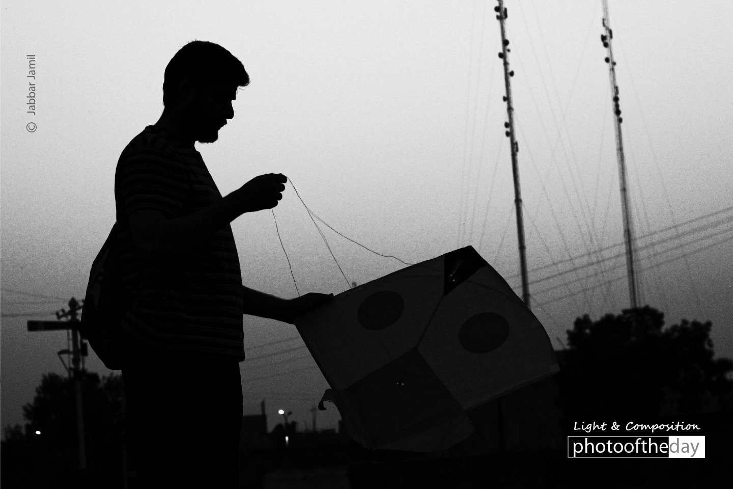 Posing with the Kite, by Jabbar Jamil