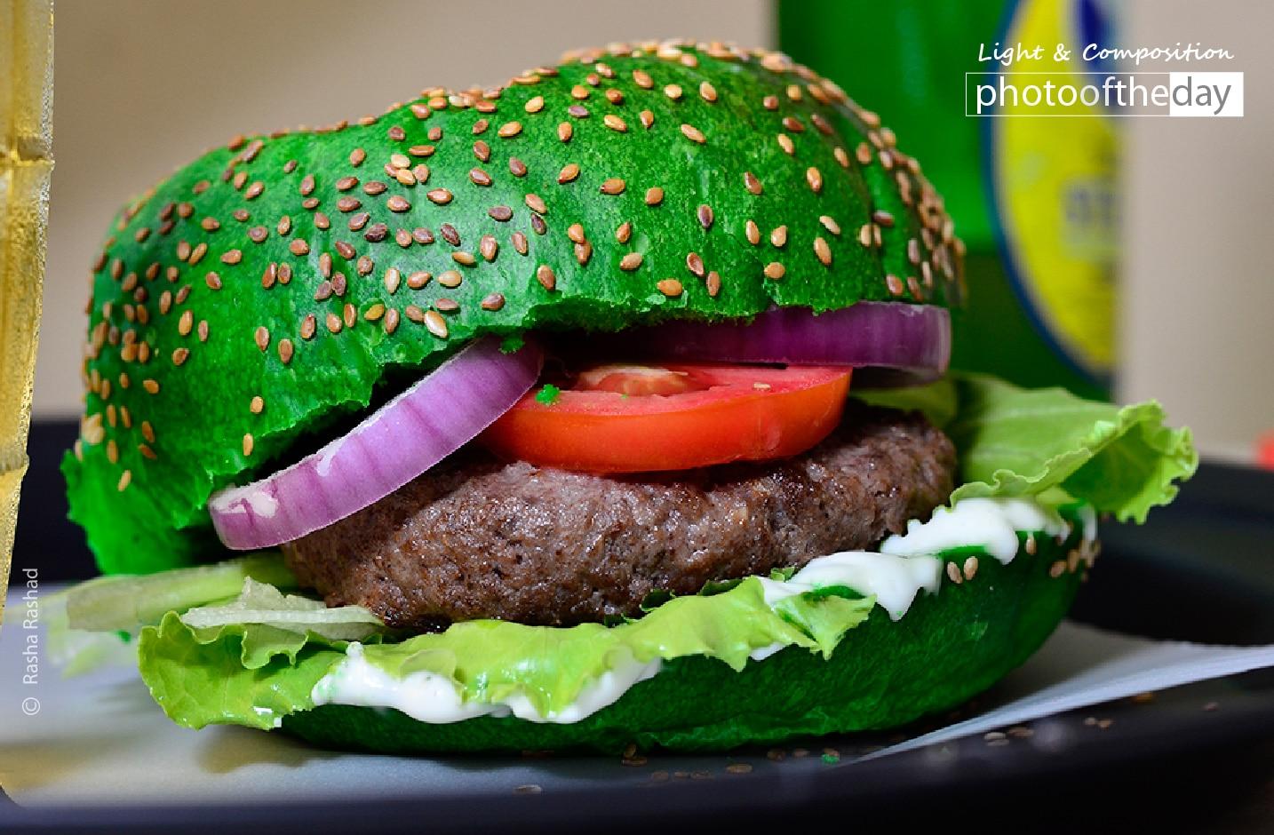 Burger in Green, by Rasha Rashad