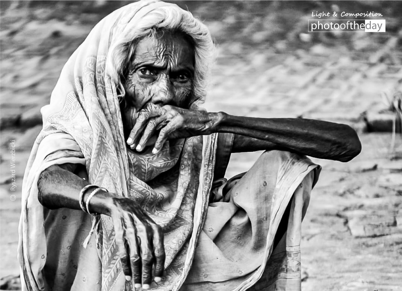 An Old Woman of Bodh Gaya by Ryszard Wierzbicki