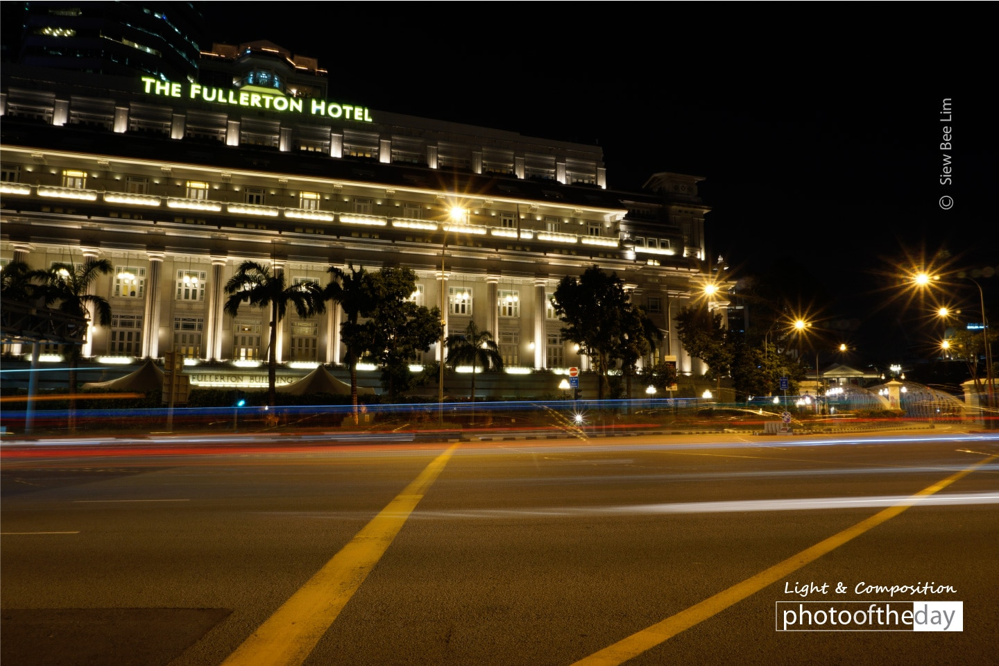 A Front View of Fullerton Building by Siew Bee Lim