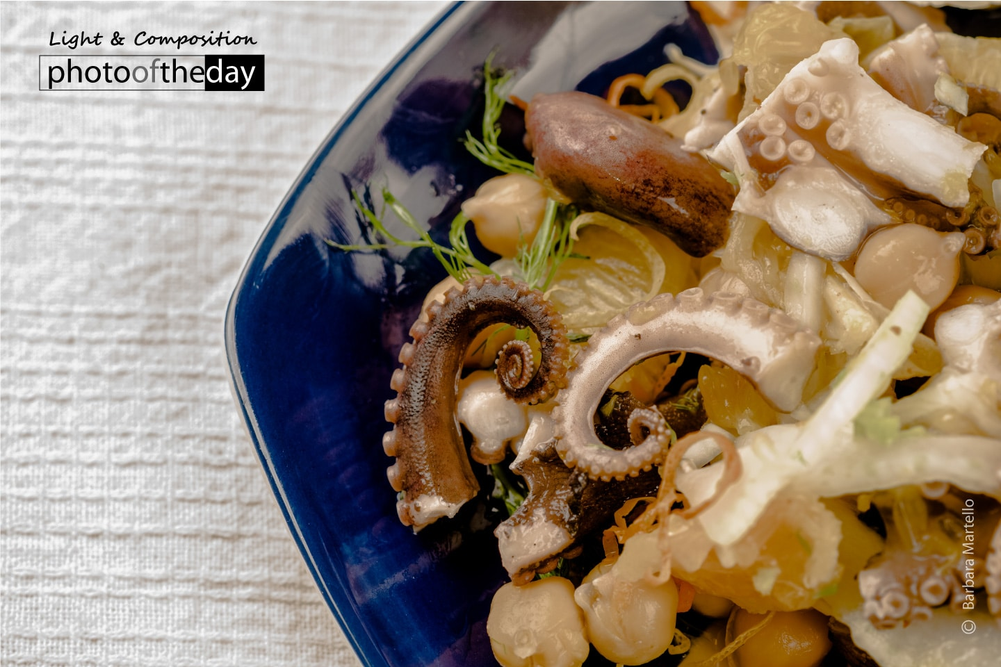 Octopus Salad with Orange, Chickpeas, and Fennel by Barbara Martello