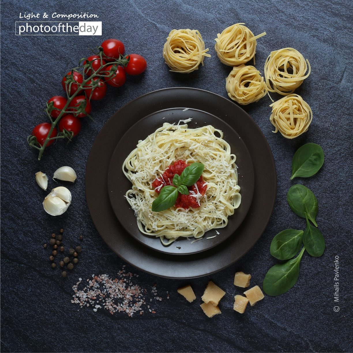 Italian Pasta with Ingredients by Mihails Pavlenko