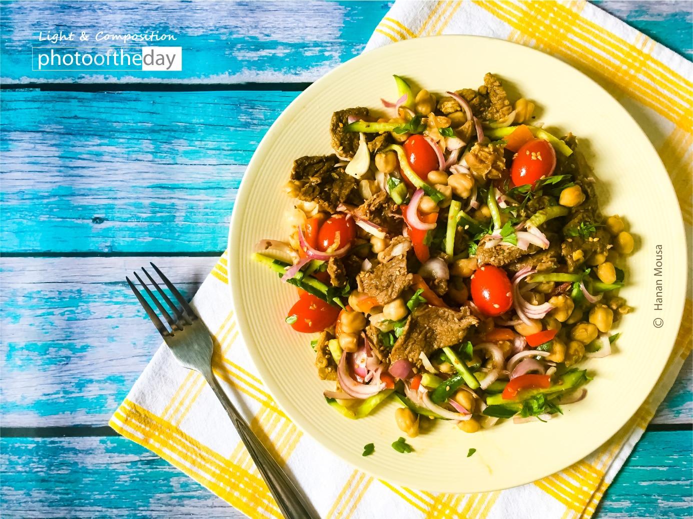 A Delicious Chickpeas Salad by Hanan AboRegela