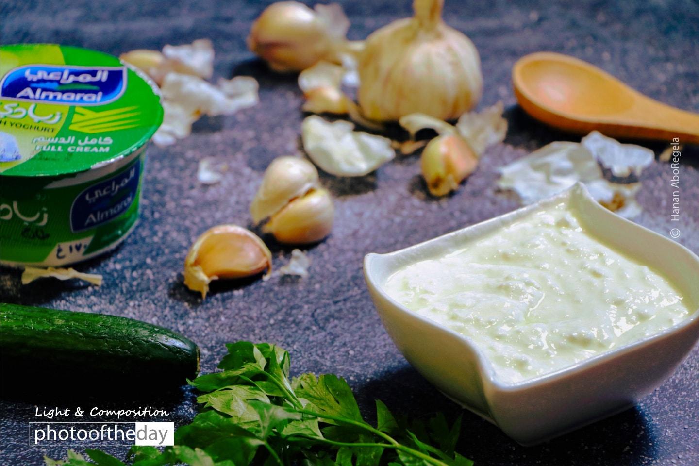 Yogurt Salad with Cucumber by Hanan AboRegela