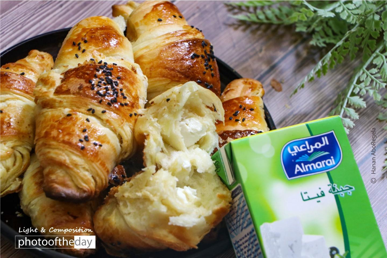 Cheesy Croissants by Hanan AboRegela
