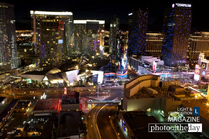 Downtown of Las Vegas at Night, by Sergiy Kadulin