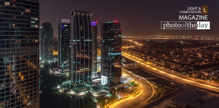 Dubai At Night, by Bashar Alaeddin