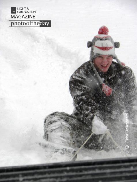 Fun Sledding in the Snow, by Tisha Clinkenbeard