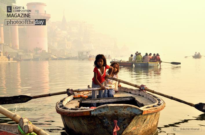 Varanasi Flower Girls, by Shikchit Khanal