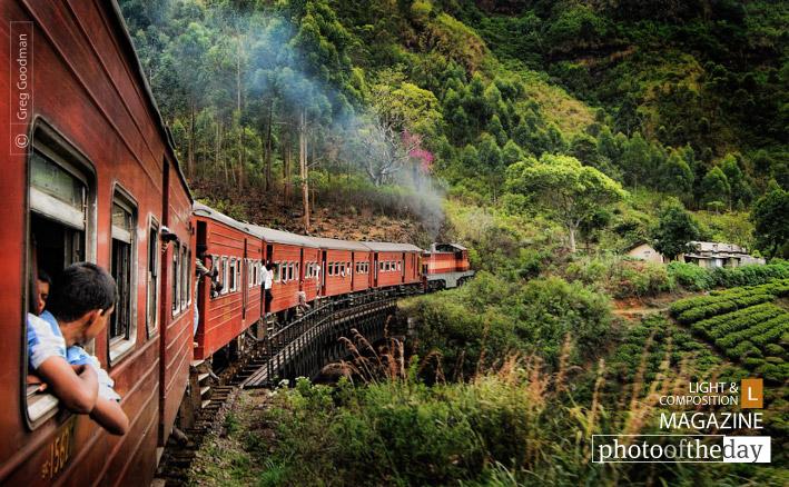 Sri Lankan Train Ride, by Greg Goodman