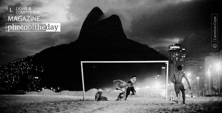 Ipanema Night Soccer, by Cameron Cope