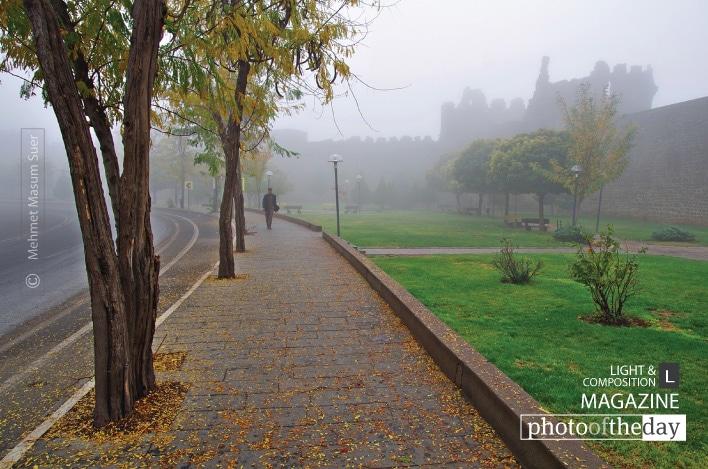 Castle of Diyarbakir under Fog, by Mehmet Masum