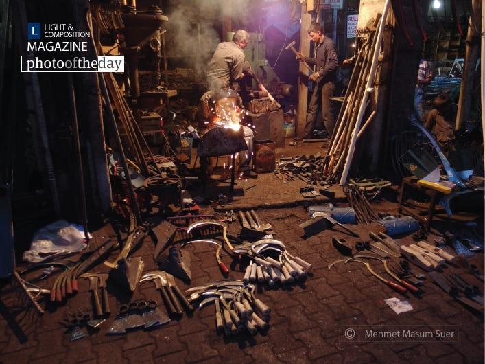 Blacksmiths Bazaar in Diyarbakir, by Mehmet Masum