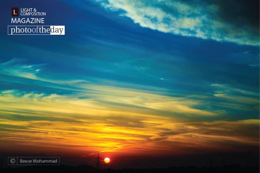 Sunset in Duhok, by Bawar Mohammad