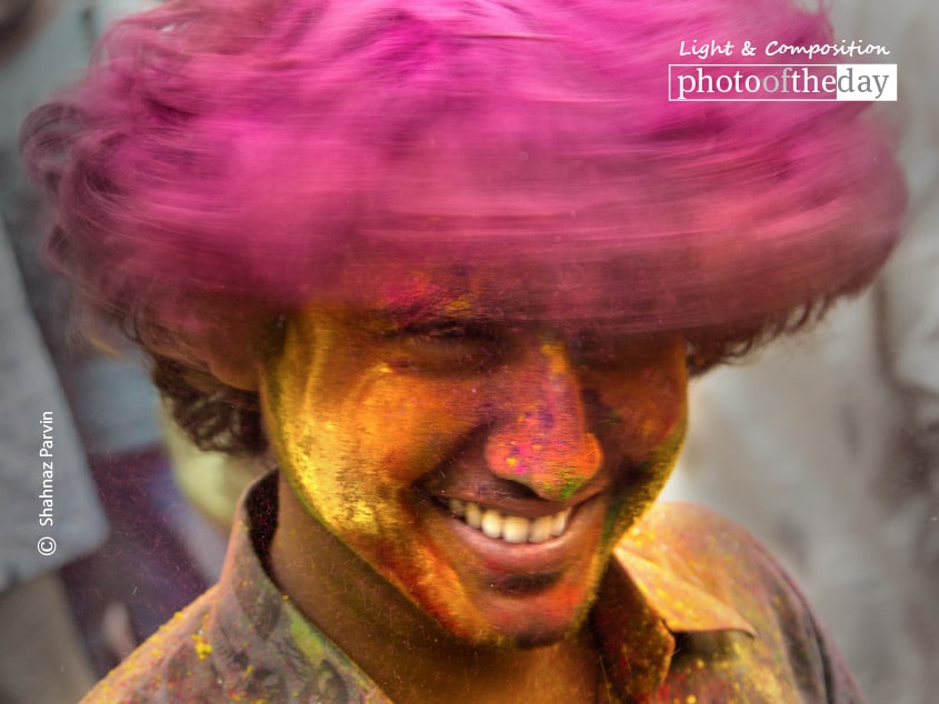 While Celebrating Holi, by Shahnaz Parvin