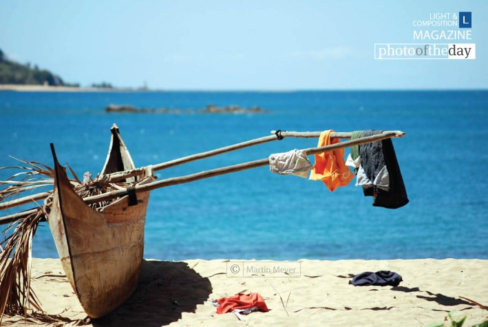 Dhow and Washing Line, by Martin Meyer