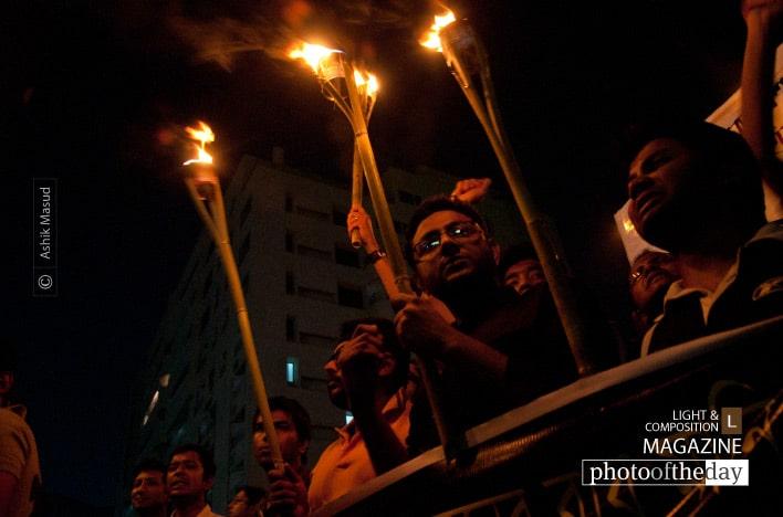 Fiery Protest, by Ashik Masud