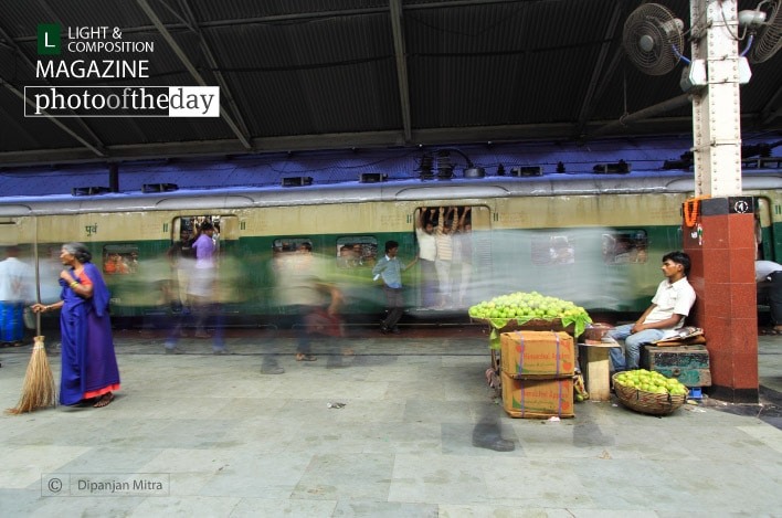 A Local Railway Station, by Dipanjan Mitra