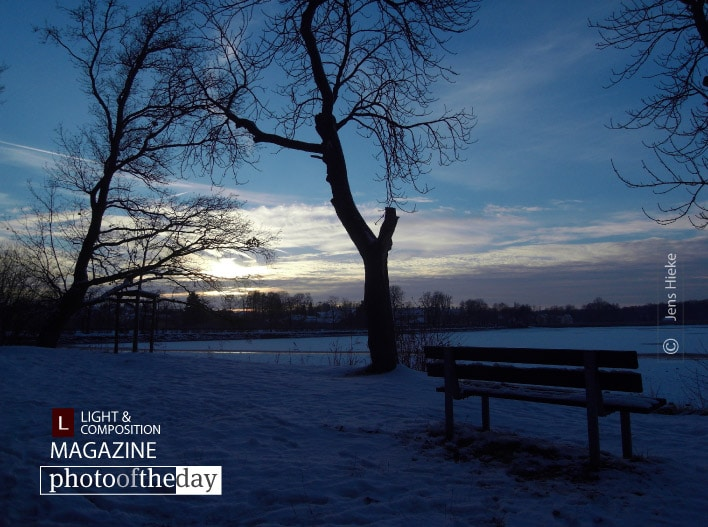 Park Bench in Winter, by Jens Hieke