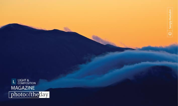 Foggy Sunset of Kamchatka, by Sergiy Kadulin