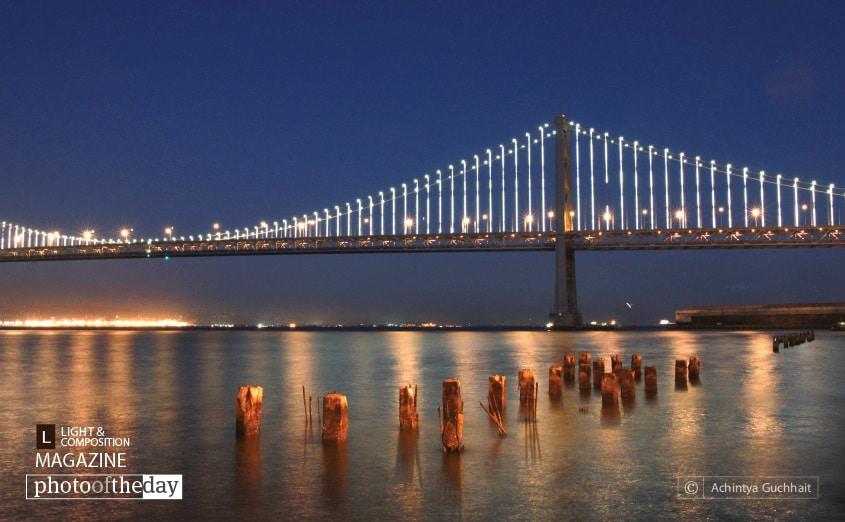 Illuminated Bay Bridge, by Achintya Guchhait