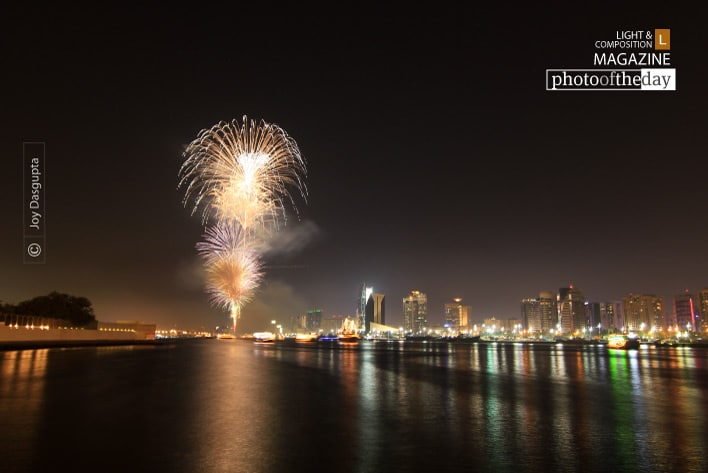 Fireworks in Dubai, by Joy Dasgupta