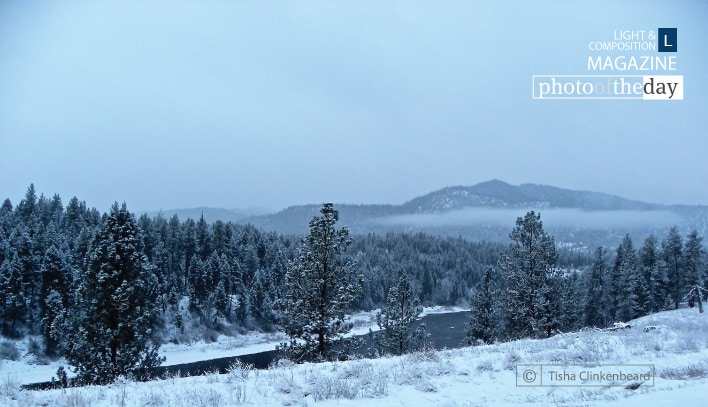 Clark Fork River in the Snow, by Tisha Clinkenbeard