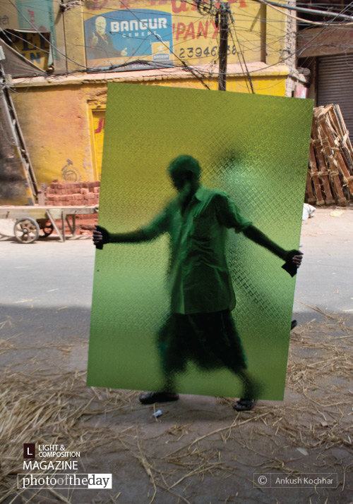 Green X-Ray Man, by Ankush Kochhar