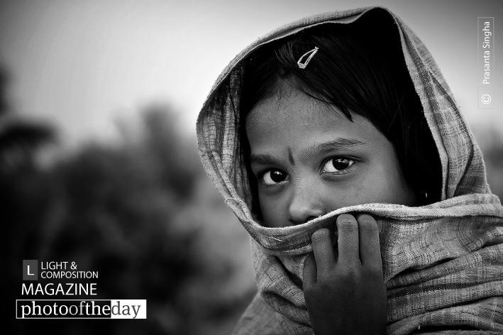 The Shy Little Girl, by Prasanta Singha