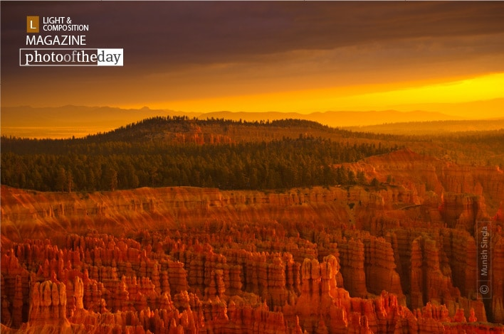 Sunrise at Bryce Canyon, By Munish Singla
