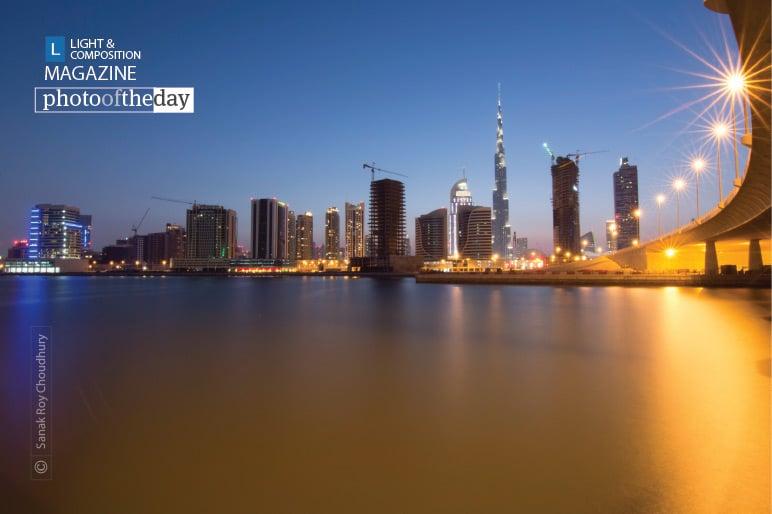 Dubai in Blue Hour, by Sanak Roy Choudhury